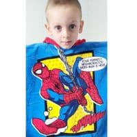 Hooded Poncho Spider-Man Towel